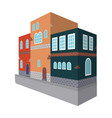typical scandinavian building architectural vector image vector image