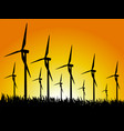 wind generators and sunset vector image vector image