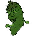 Happy Cucumber vector image