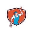 House Painter Paintbrush Paint Bucket Crest vector image