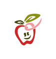 apple cute template vector image