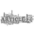 article directories play an important role in seo vector image vector image