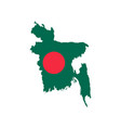 bangladesh map and flag vector image
