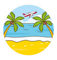 beach vacations image vector image vector image