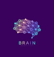 brain logo silhouette design template vector image vector image