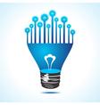 Bulbs on half bulb vector image