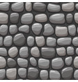 cartoon gray stone texture seamless vector image vector image