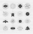 Circle badges set with sunburst frames vintage