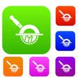 circular saw set collection vector image vector image