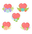 Collection hearts with floral element