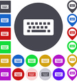 Color wireless keyboard icon set vector image vector image