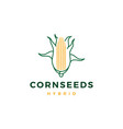 corn logo icon line outline monoline vector image vector image