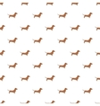 Dachshund dog pattern cartoon style vector image