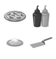 design of pizza and food icon set of pizza vector image vector image