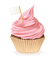 Flag Cupcake vector image vector image