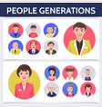 flat people aging process template vector image vector image