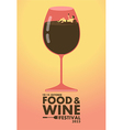 Food and Wine festival poster Relax concept vector image vector image