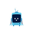 funny cute robot and machine from future with vector image vector image