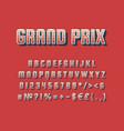 grand prix vintage 3d alphabet set vector image