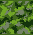 green camouflage seamless background vector image