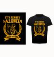 halloween typography t-shirt vector image vector image