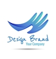 Hand stylized line logo Creative colorful vector image