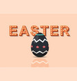 happy easter greeting card with easter eggs vector image vector image