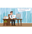 hr agency concept flat vector image