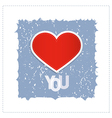 I Love You Theme With Red Heart Made From Paper vector image vector image