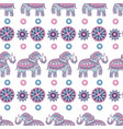 indian elephant seamless pattern animal decorated vector image