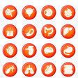 internal human organs icons set red vector image vector image