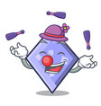 juggling rhombus mascot cartoon style vector image