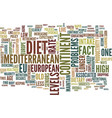 live longer with the mediterranean diet text vector image vector image
