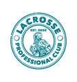 logo design lacrosse professional club est 2020 vector image vector image
