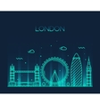 London England Trendy line art style vector image