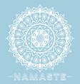 mandala namaste vector image vector image