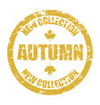 new autumn collection rubber stamp vector image vector image