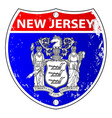 new jersey flag icons as interstate sign vector image vector image