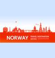 norway travel destination vector image