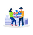 office shifting employee helping each other vector image vector image