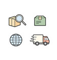 parcel delivery service vector image vector image
