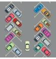 Parked cars on the parking top view urban vector image vector image