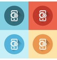 phone with gears flat icons vector image vector image