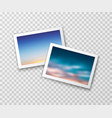 photo frames with blurred landscapes vector image vector image