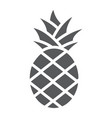 pineapple glyph icon fruit and food tropical vector image vector image