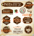 Pizza retro labels vector image vector image