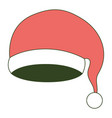santa claus christmas hat on color section vector image vector image