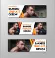 set horizontal web banners with place vector image vector image
