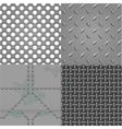 set metal textures vector image