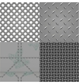 set of metal textures vector image vector image